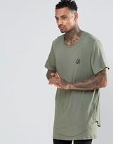 Criminal Damage Longline T-Shirt With Dropped Hem