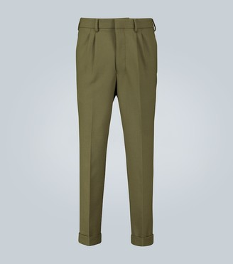 Ami Tapered pleated pants