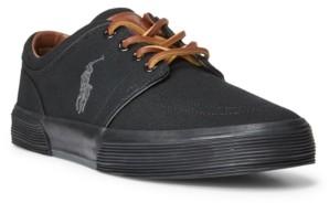Polo Ralph Lauren Men's Canvas Faxon Low-Top Sneakers Men's Shoes
