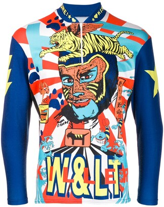 Walter Van Beirendonck Pre Owned 1995/96's Paradise Pleasure Productions longsleeved cycling top