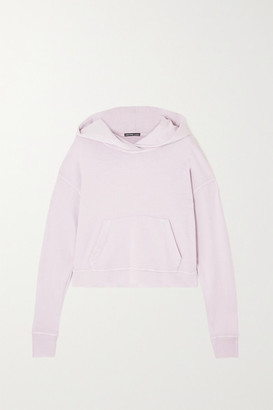 James Perse Cropped Supima Cotton-terry Hoodie - Lilac