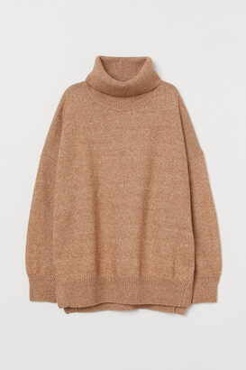 H&M Knitted cowl-neck jumper