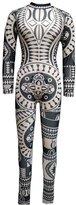 VIVOSKY Women Tribal Tattoo Printing Bandage Jumpsuit Pants Dumpsuit Women Sexy Bodysuit Celebrity Catsuit Playsuit Black