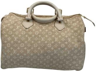 Louis Vuitton Speedy Ecru Cloth Handbags