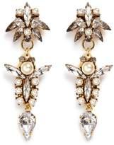 Erickson Beamon 'Born Again' glass pearl crystal drop earrings