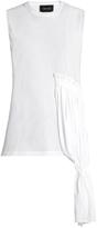 Simone Rocha Draped-panel sleeveless jersey top