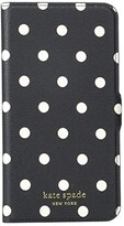 Kate Spade Cabana Dot Magnetic Folio for iPhone(r) 11 Pro Max (Black Multi) Cell Phone Case
