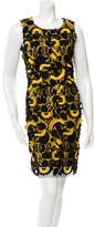 Vanessa Bruno Abstract Pattern Fringe-Paneled Dress w/ Tags