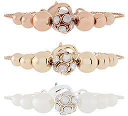 Monsoon 3x Diamante Ball Bracelet Set