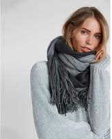 Express reversible metallic fringe scarf
