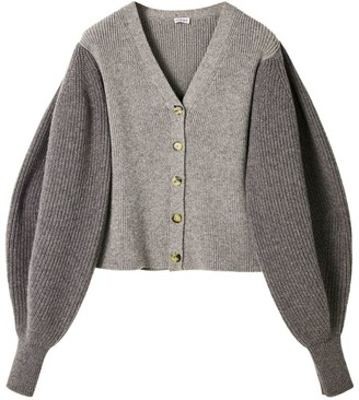 Loewe Wool Balloon-Sleeved Cardigan