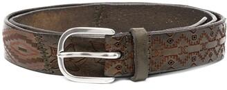 Orciani Patterned Leather Belt