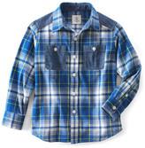 Lands' End Lands& End Long Sleeve Plaid Flannel Shirt (Big Boys)