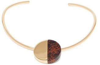 Jil Sander Bi-colour Choker Necklace - Brown