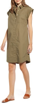 J.Crew Cuffed Sleeve Button Front Dress