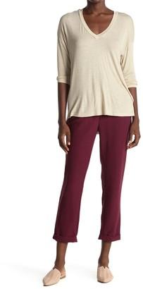 ALL IN FAVOR High Waist Crop Jersey Trousers
