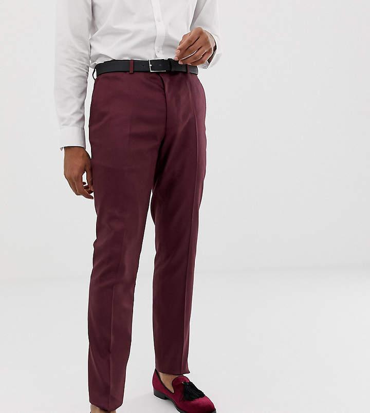 Heart N Dagger skinny fit suit pants in red