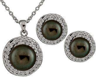 Splendid Pearls Silver 8.5-9Mm Freshwater Pearl Necklace & Earrings Set