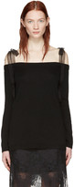 Valentino Black Off-the-shoulder Pullover