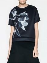 Calvin Klein Platinum Floral Short Sleeve Sweatshirt