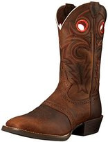 Justin Boots Justin Men's Silver Saddle Vamp Cowboy Boot Square Toe - Sv2534