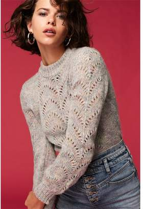 Dynamite Mult-Color Pointelle Sweater - FINAL SALE Multi-Color Marl