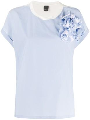 Lorena Antoniazzi Rosette-Embellished Panelled Top