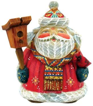 G. Debrekht Artistic Studios Hand Painted Feathered Friends Santa Figurine Ornament