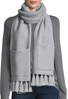 Eileen Fisher Blanket Wrap with Pockets, Dark Pearl