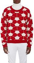 Gosha Rubchinskiy Men's Soccer-Ball-Pattern Wool-Blend Sweater