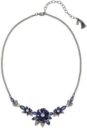 Simply Vera Vera Wang Blue Simulated Crystal Flower Motif Collar Necklace
