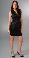 ADAM Deep V Ruched Waist Dress