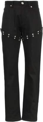Alyx straight leg popper detail jeans