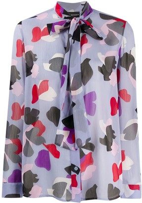 Emporio Armani Abstract Print Blouse