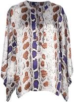 Galliano python print blouse