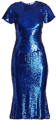 Rachel Gilbert Sequin Midi Dress