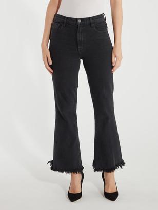 J Brand Julia High Rise Frayed Flare Jeans