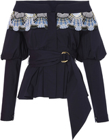 Peter Pilotto Cotton Lace Belted Blouse