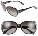 Maui Jim Women's Kalena 57Mm Polarizedplus Sunglasses - Black/ Crystal/ Neutral Grey