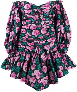 Giuseppe di Morabito Off-Shoulder Floral Print Dress