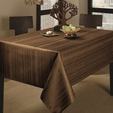 """Benson Mills Co., Inc. Benson Mills Flow Heavy Weight """"Spillproof"""" 60-Inch by 120-Inch Fabric Tablecloth, Chocolate, 60x120"""