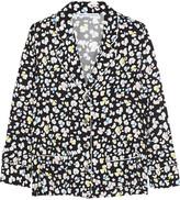 Raphaëlla Riboud George leopard-print silk-satin pajama shirt