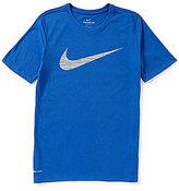 Nike DriFIT Swoosh Graphic Short-Sleeve Crewneck Training Tee