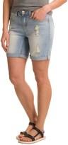 "Seven7 Destroyed Bermuda Shorts - 7"" (For Women)"