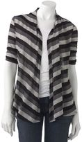 Iz Byer california striped cardigan top