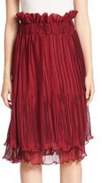 Romance Was Born Two-Tiered Pleated Skirt