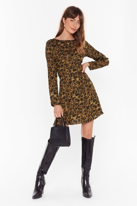 Nasty Gal Womens Like an Animal Relaxed Mini Dress - Green - 8