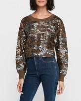 Express Sequin Camo Sweatshirt