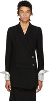 Ann Demeulemeester Black Howard Blazer