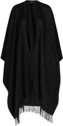 William Sharp Cashmere Embellished Poncho